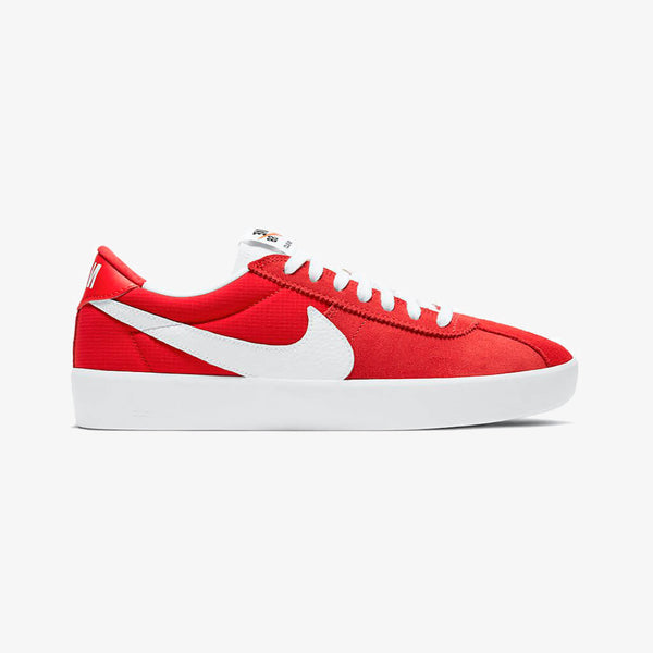 Red White Nike Bruin React Skate Shoes