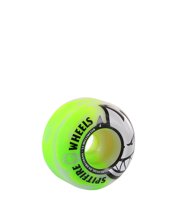 skateboard wheel, Spitfire Big Head Green Swirl 53mm