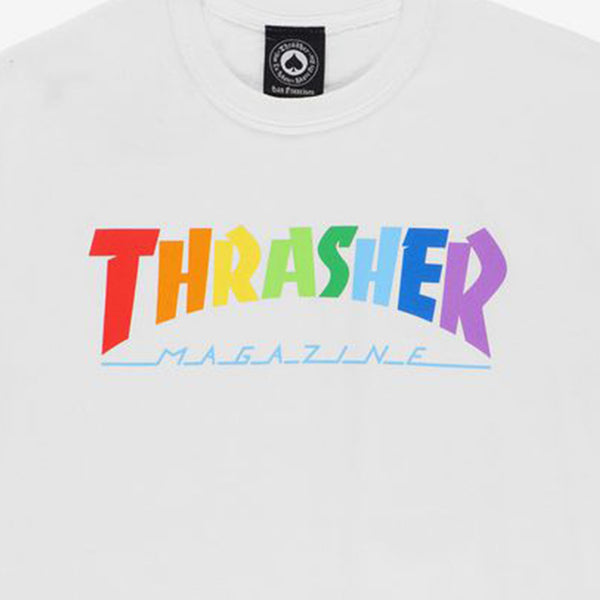 Thrasher Rainbow White T-Shirt