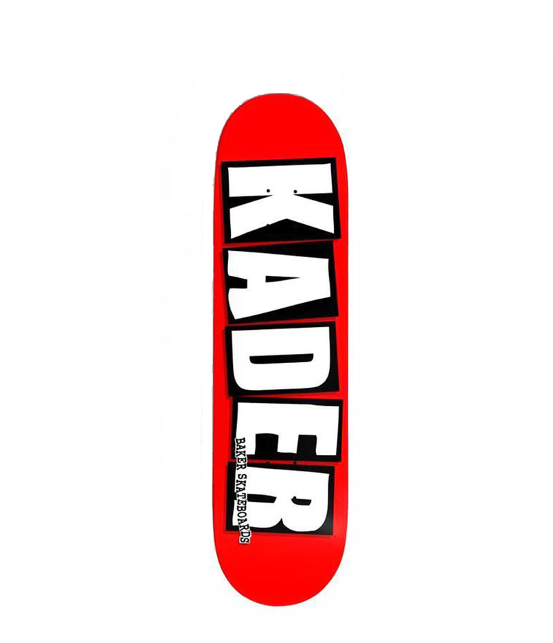 Baker skateboard, Kader Sylla Logo, red and white