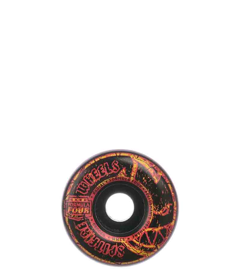 Spitfire Skateboard Wheels, F4 99 Duro, Embers, Radial Black, 52mm