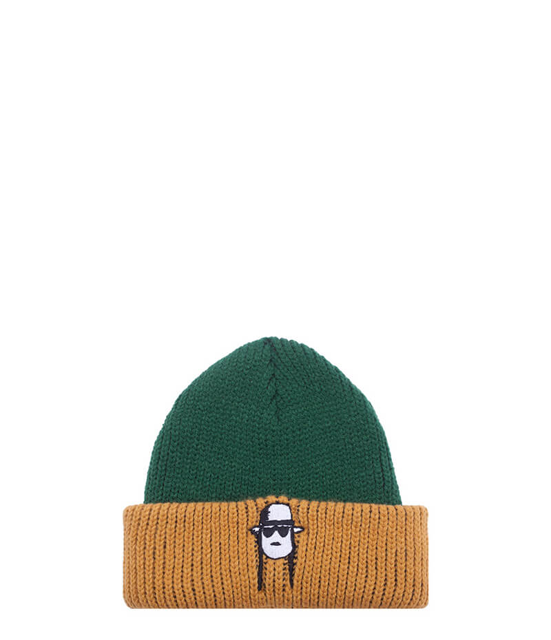 Fucking Awesome, Spike Beanie Green Yellow