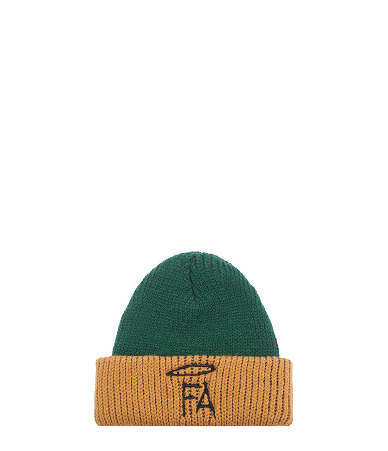 Fucking Awesome, Spike Beanie Green Yellow back