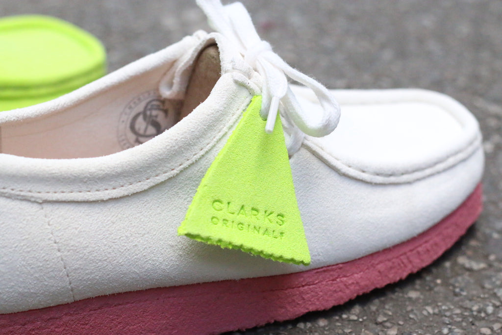 Clarks Originals Wallabee Bright White & Pink