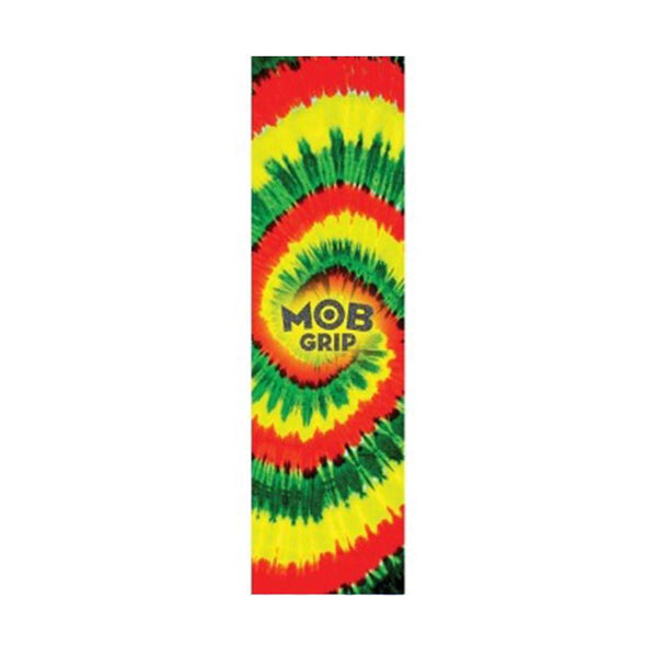 MOB Tie Dye Rasta Swirl Grip tape sheet