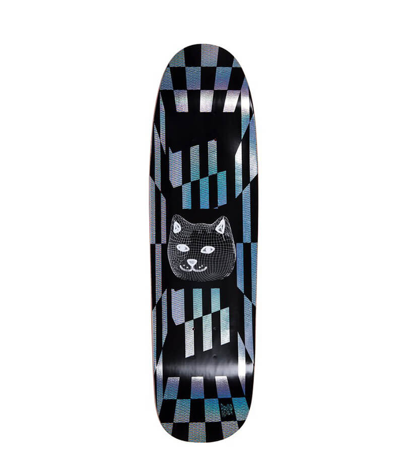 "Cruiser Skateboard Rip N Dip, 8.5"" Illusion, Black Deck"