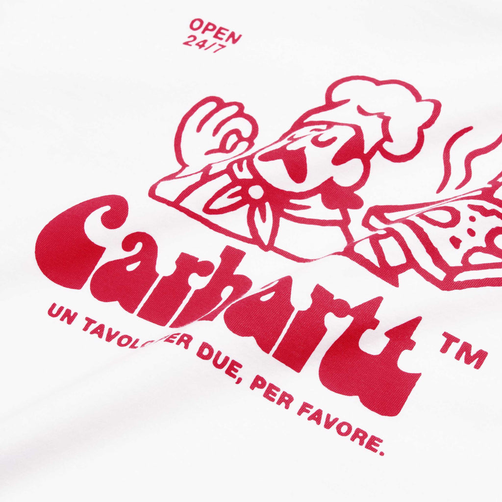 Carhartt WIP, T-shirt, White, pizza