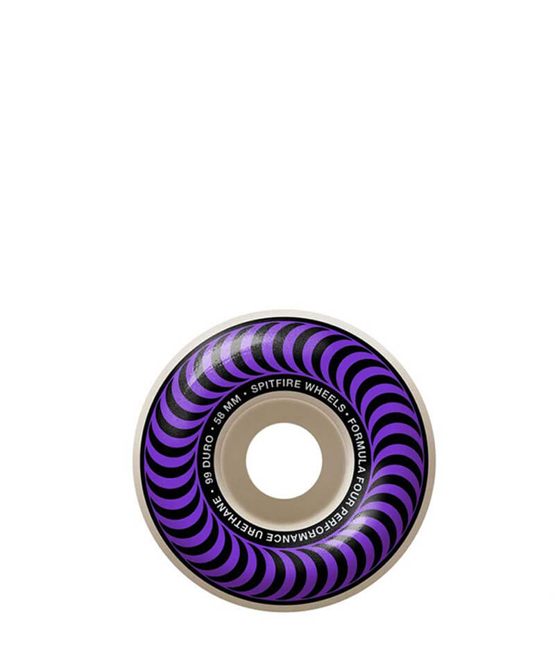 Skateboard wheels spitfire, purple , 58mm, formula 4