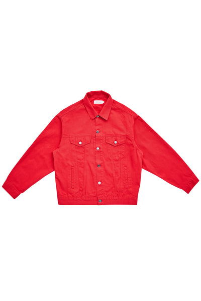 DENIM JACKET_RED