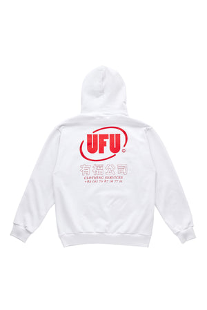 OVAL HOODIE_WHITE