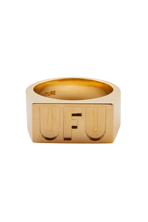 UFU SQUARE RING_GOLD
