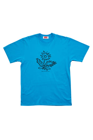 FLOWER T-SHIRT_BLUE