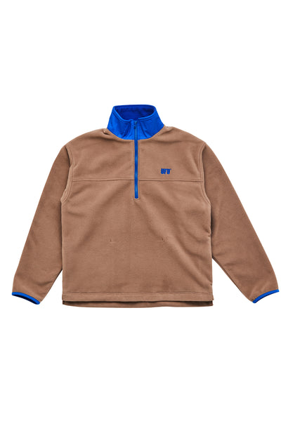 UFU HALF ZIP-UP_BEIGE