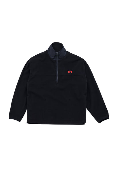 UFU HALF ZIP-UP_BLACK