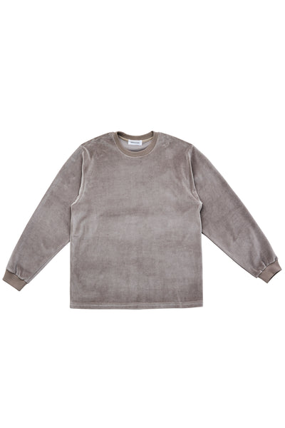 VELOUR LS TSHIRT_GREY