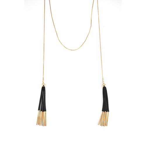 Black and Gold Tassels - MyOdara