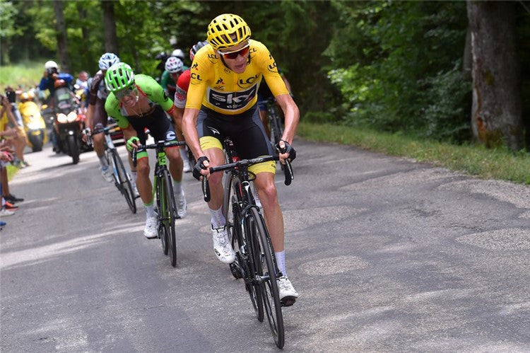 TOUR DE FRANCE:SIDI CHAMPIONS STAR IN THE FIRST PART - WON 6 OUT OF 9 STAGES. SIDI WEARS THE YELLOW JERSEY WITH CHRIS FROOME AND THE GREEN JERSEY WITH MARCEL KITTEL.