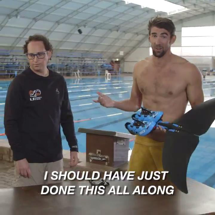 Michael Phelps just raced a great white shark... In Sidi shoes!