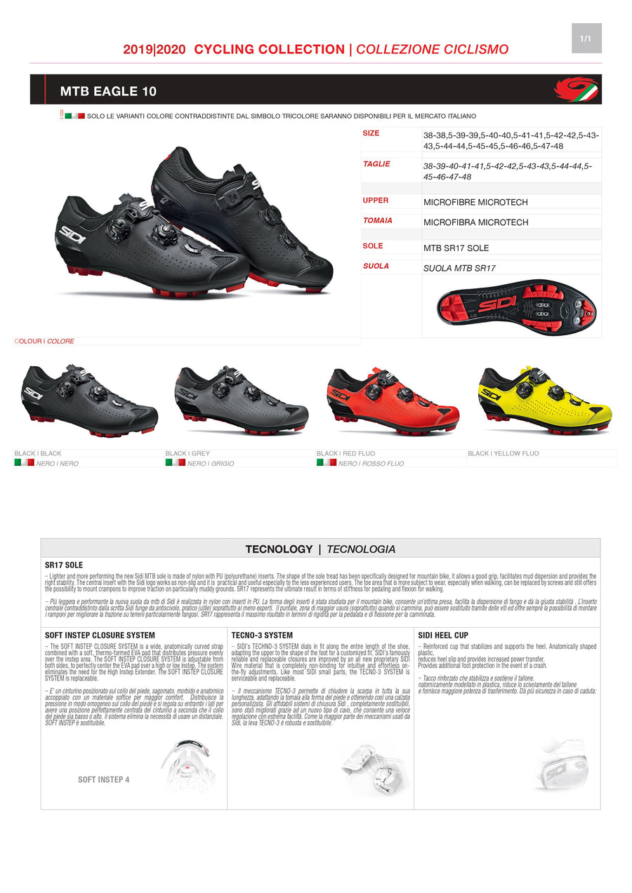 PARTS KIT - SIDI MOUNTAIN | EAGLE 10