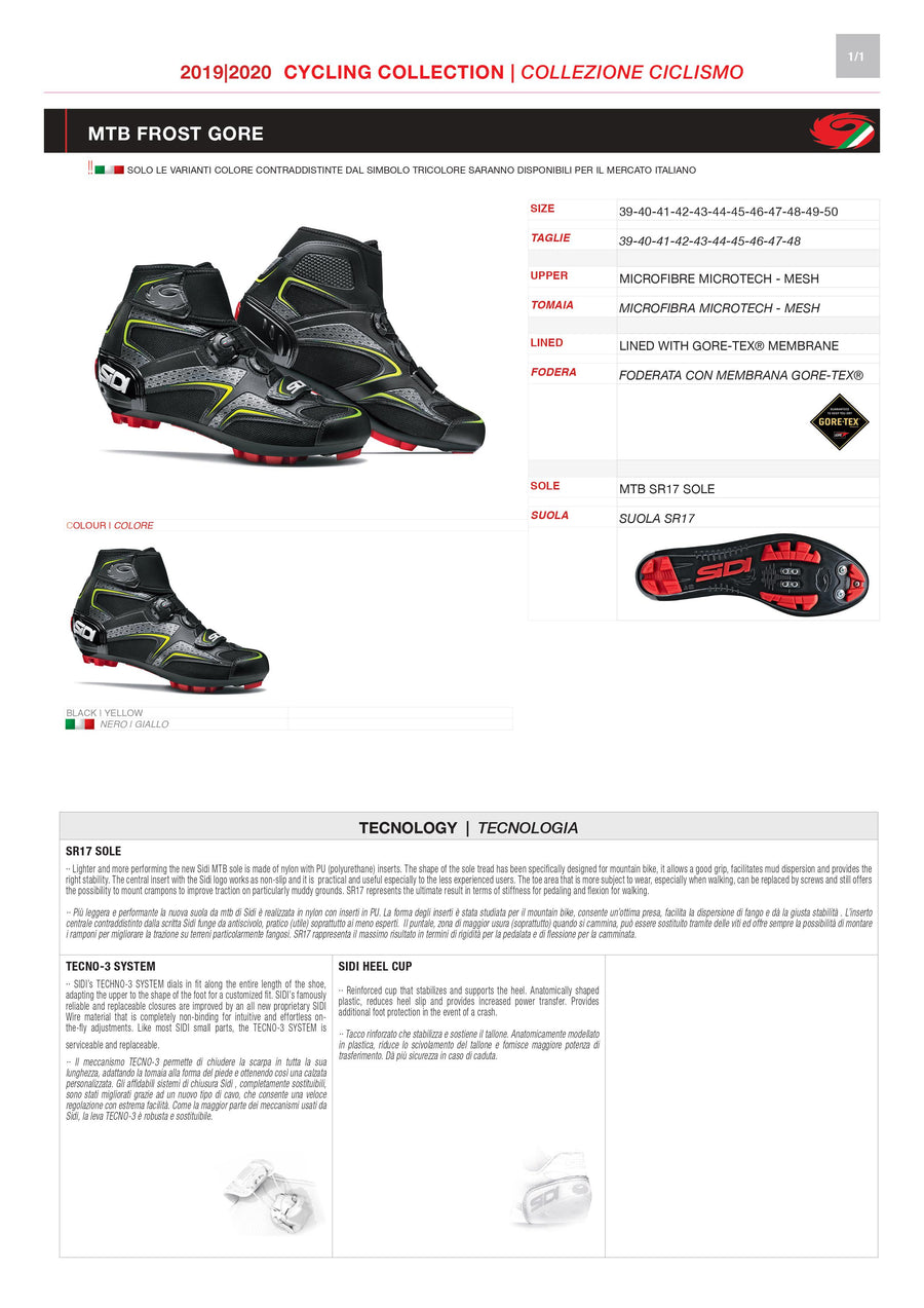 PARTS KIT - SIDI MOUNTAIN | FROST GORE
