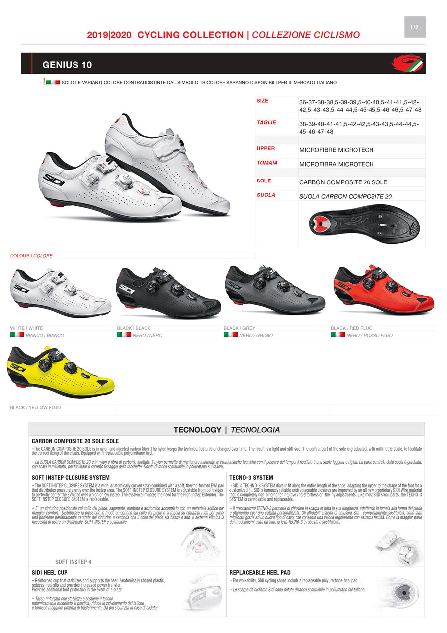 PARTS KIT - SIDI ROAD | GENIUS 10