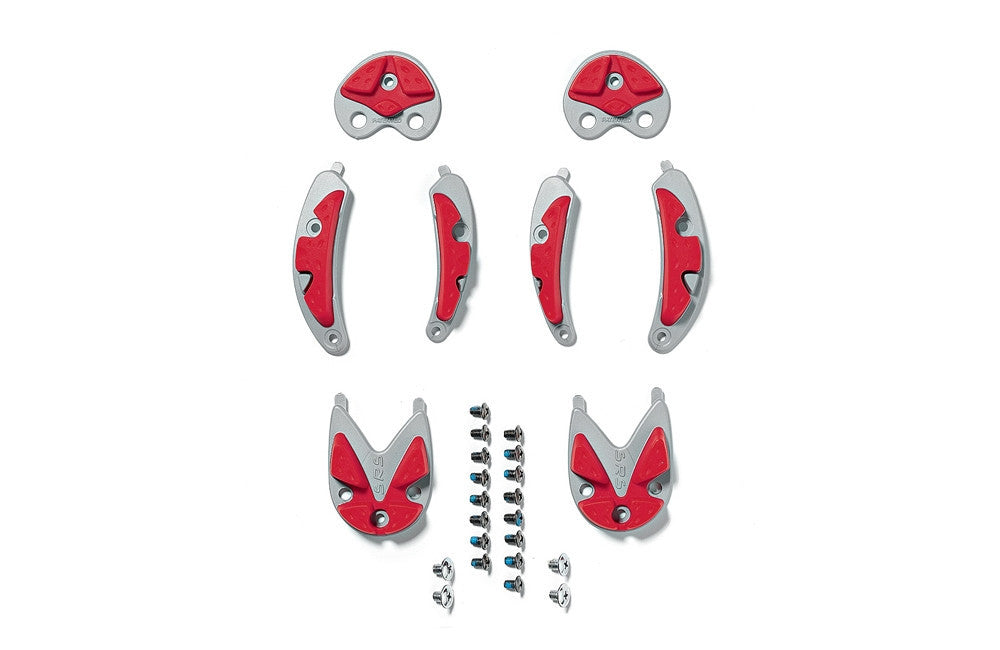 MTB S.R.S Inserts - Red/Grey.43