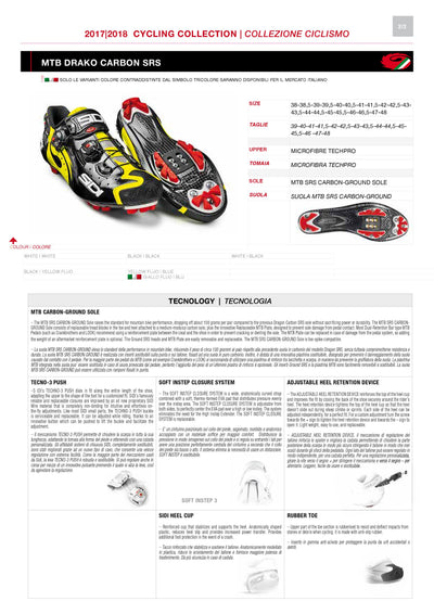 SIDI Mountain | DRAKO SRS - White/Black