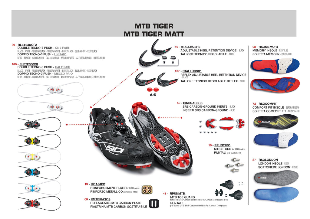 SIDI Mountain | TIGER - Black/White