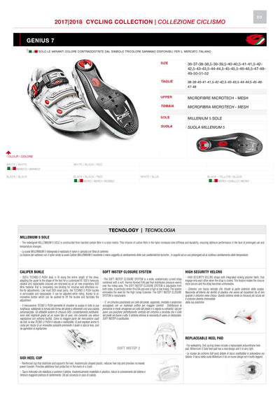 SIDI Road | GENIUS 7 - Black/Red