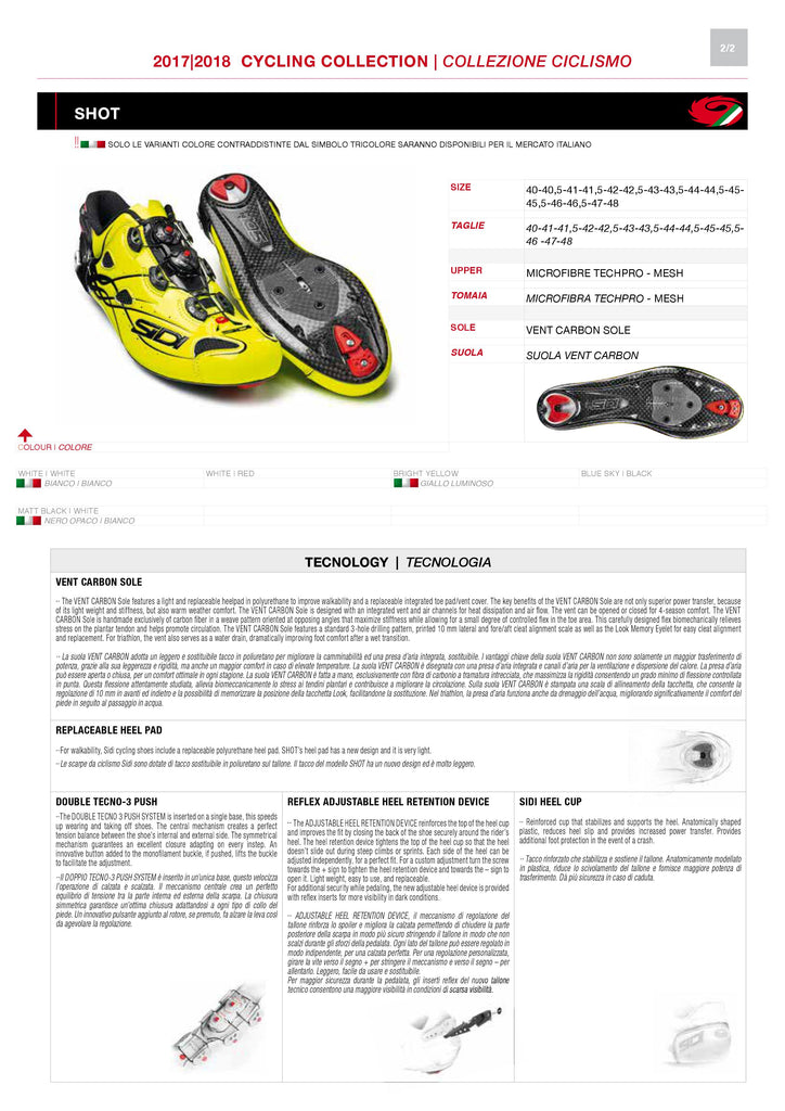PRE ORDER SIDI Road | SHOT - Total Black