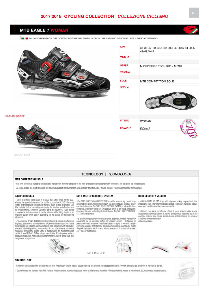 SIDI Mountain Woman | EAGLE 7 - Black