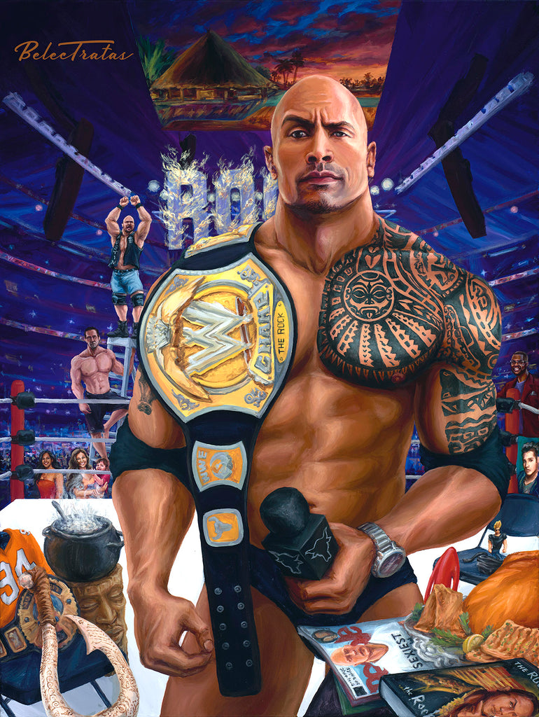 Dwayne Johnson Art Print - Belec Tratas