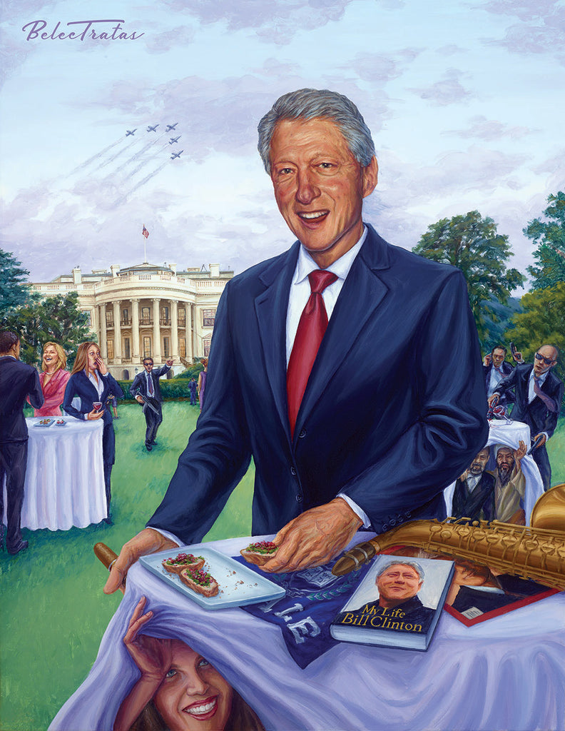 Bill Clinton Art Print - Belec Tratas