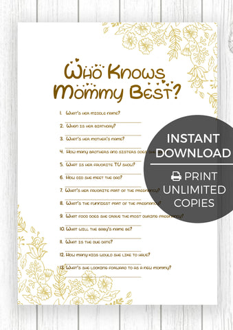 Awesome ... The Printable Baby Shower Games   Golden Flowers Edition 12 Baby Shower  Games ...