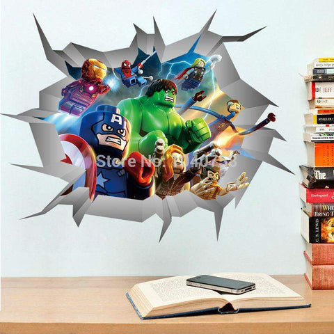 Avengers Lego 3D Wall Decals ...