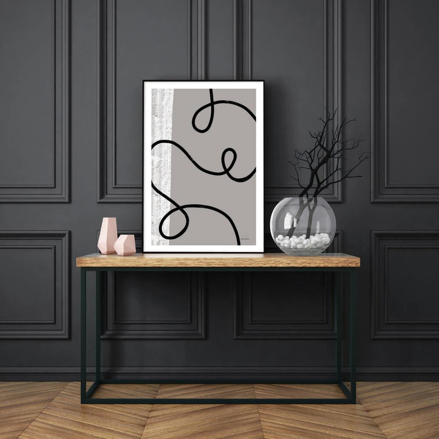 Posters & Prints - BLACK FLOW POSTER