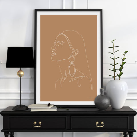 WOMAN WITH EARRINGS POSTER