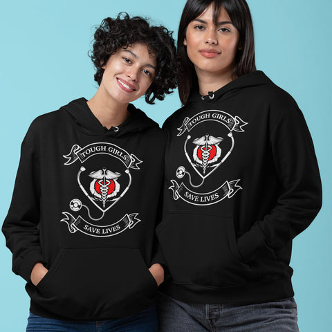 Tough Girls Save Lives (Hoodie)-100% COTTON