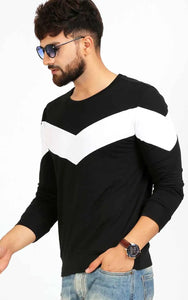 BLACK FULL SLEEVE CASUAL T SHIRT