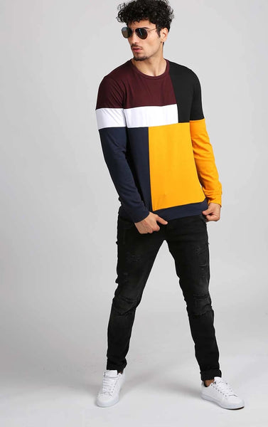 MULTICOLOURED FULL SLEEVE T-SHIRT