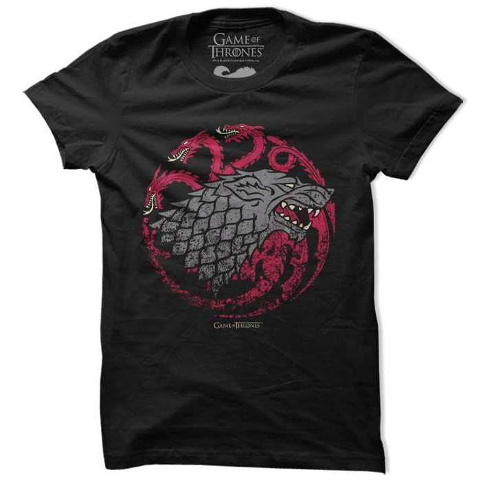 Game Of Thrones Fire Blood Ice T Shirt-100% COTTON
