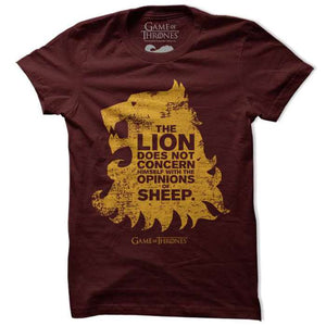 Game Of Thrones Lion And The Sheep T Shirt-100% COTTON