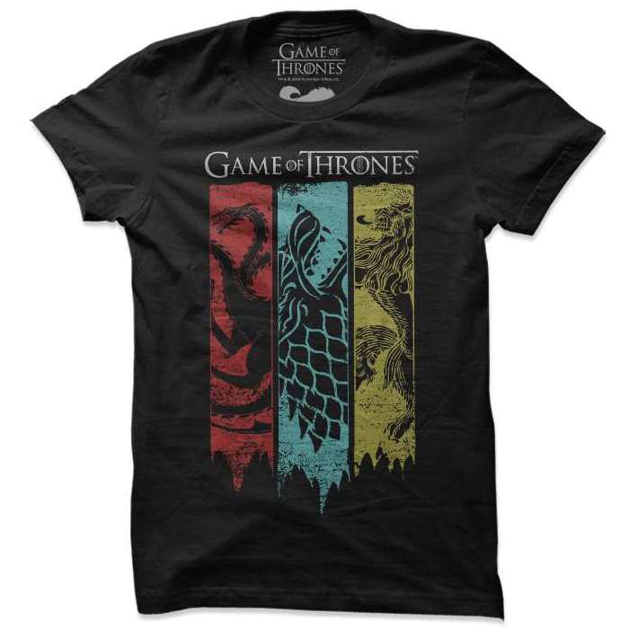 Game Of Thrones Sigil Banner  T Shirt-100% COTTON