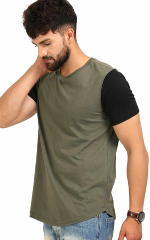 OLIVE BLACK T SHIRT FOR MEN