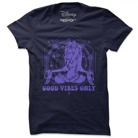 The Lion King Rafiki Good Vibes Only T Shirt-100% COTTON