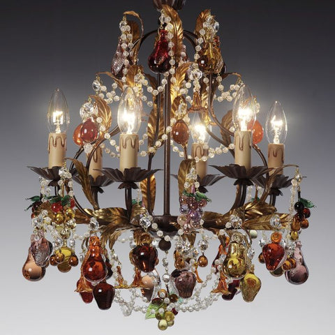 Luxury and luxurious chandeliers italian lighting centre our murano glass fruit chandeliers for example have solid glass fruits in such sumptuous colours that you will be tempted to take a bite aloadofball Choice Image