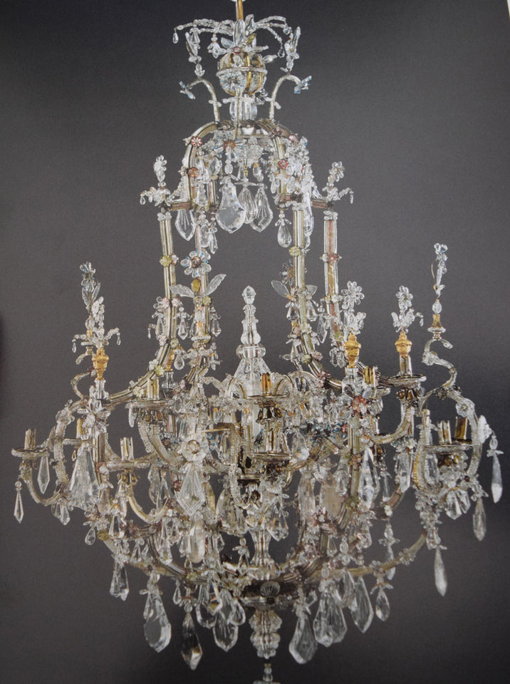 Renaissance Rock Crystal Eight Light Chandelier
