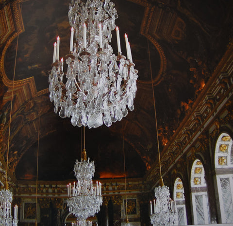 By The End Of Century Two Main Types French Rock Crystal Chandeliers Had Emerged Lustre A Tige Decouverte In Style Louis XIV