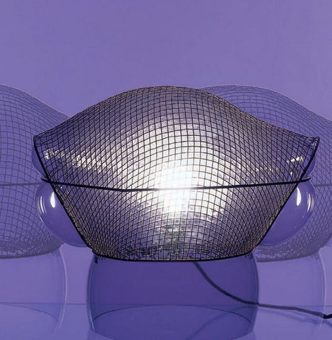 Patroclo clear glass & steel wire table lamp from Artemide