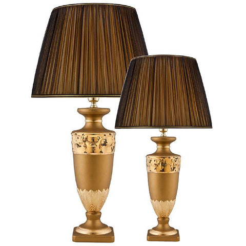 French-style ceramic gold table lamp